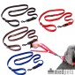EzyDog Vario 4 lijn - Zwart - 12mm - Lite Leash