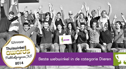 Medpets.nl winnaar Thuiswinkel Award Publieksprijs XS