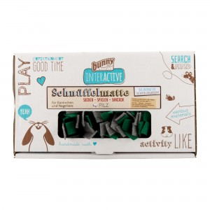 Bunny Nature Interactive Snuffelmat Vilt - Grijs/Groen