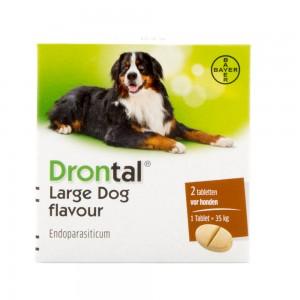 Drontal Large Dog Flavour 8 tabletten