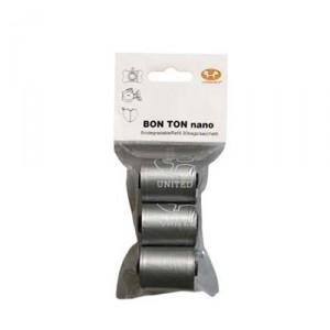 United Pets Bon Ton Nano navulling poepzakjes (3x10 st). - Zilver