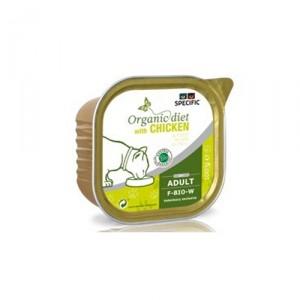 Specific F-BIO-W Organic Diet 7 x 100 gr. Beef