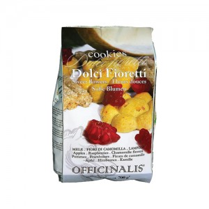 Dolci Fioretti Cookies - Appel, framboos, kamille - 700 g