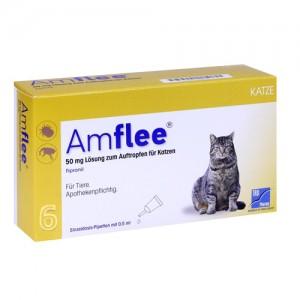 Amflee Spot-on Kat - 6 pipetten