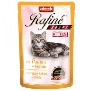 Animonda Rafiné Soupé - Kitten kalkoen/hart/wortel - 24x100 gr.