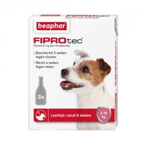 Beaphar FiproTec Spot-On Hund 2 - 10 kg - 3 Pipetten