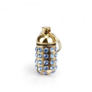 Beeztees Luxo Adressanhänger mit Strass - Blau