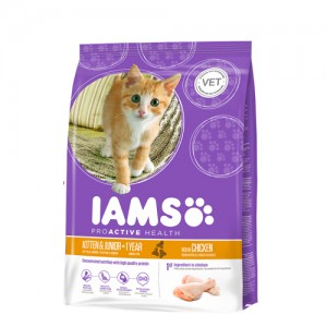 IAMS kitten & junior 2.55 kg.