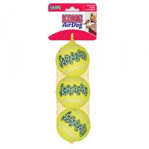Kong 3 st 6,5 cm air squeaker tennisbal geel