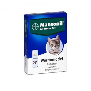 Mansonil All Worm Cat - 2 tabletten