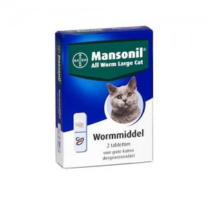 Mansonil All Worm Large Cat - 2 tabletten