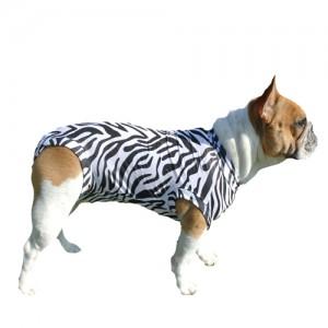 Medical Pet Shirt Hond Zebra Print - XXL