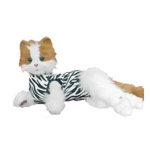 Medical Pet Shirt Kat Zebra Print - S