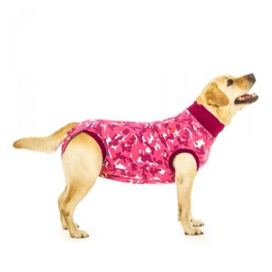 Suitical Recovery Suit Hond - S - Roze Camouflage