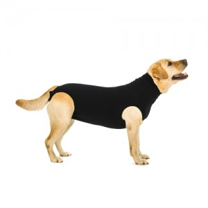 Suitical Recovery Suit Hund - XXL - Schwarz