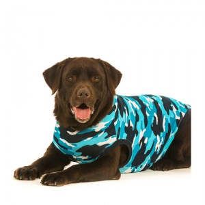 Suitical Recovery Suit Hond - XXXS - Blauw Camouflage