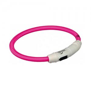 Trixie USB Flash Light Ring - XS/S - Roze