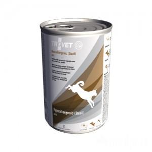 TROVET Hypoallergenic QPD (Quail) Hond - 12 x 400 gr blikken