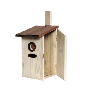 Vogelhuis met Plexiglas Zijkant