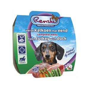 Renske Vers Vlees - Kalkoen met eend - 8 x 100 gram